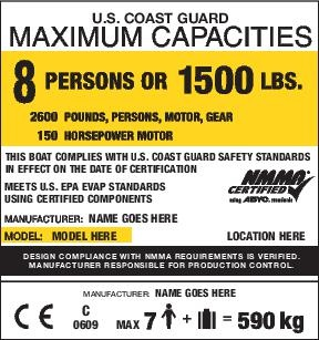 nmma certified boat capacity plate