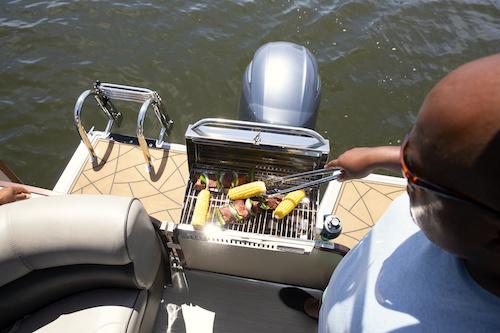 boat bbq onboard