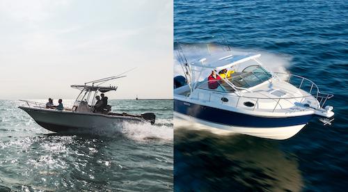 center consoles vs walkaround boats