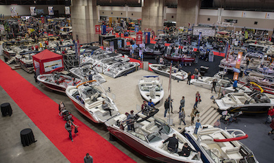 buying a boat at a boat show