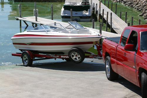 boat towing and trailering