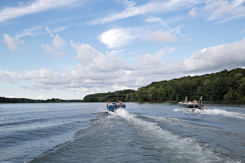 How To Drive A Pontoon Boat Discover Boating