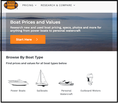 nada guides boat prices and values