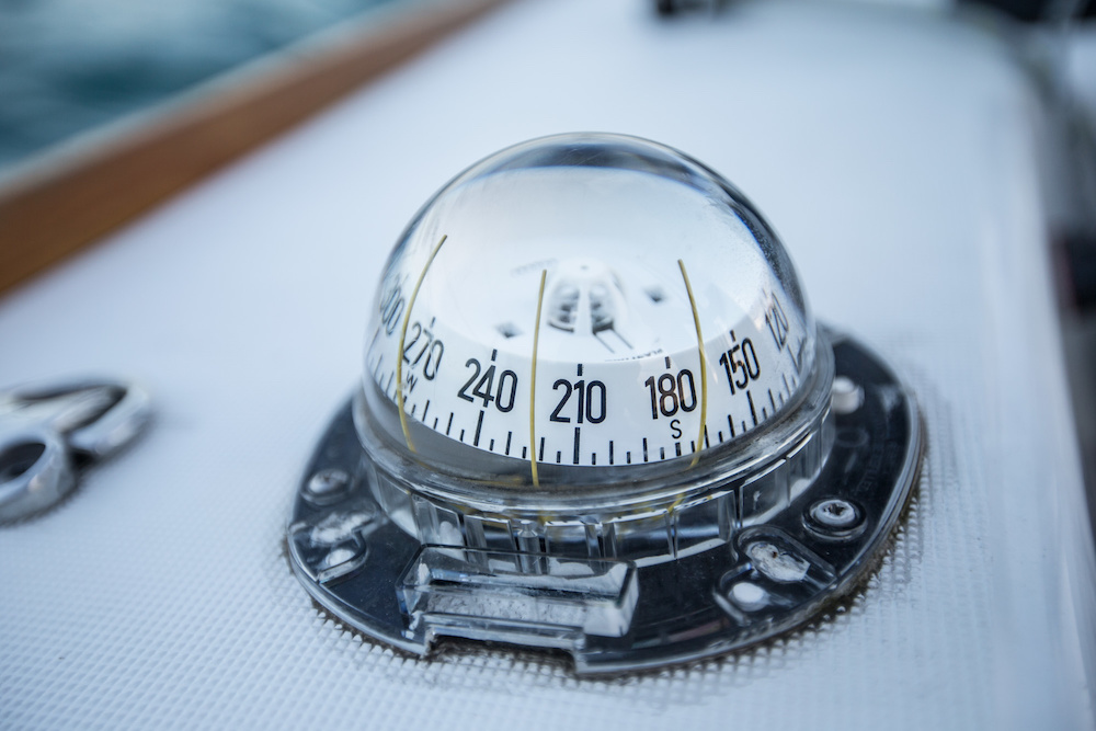 traditional marine navigation compass