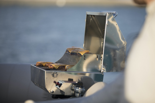 is it legal to grill on a boat