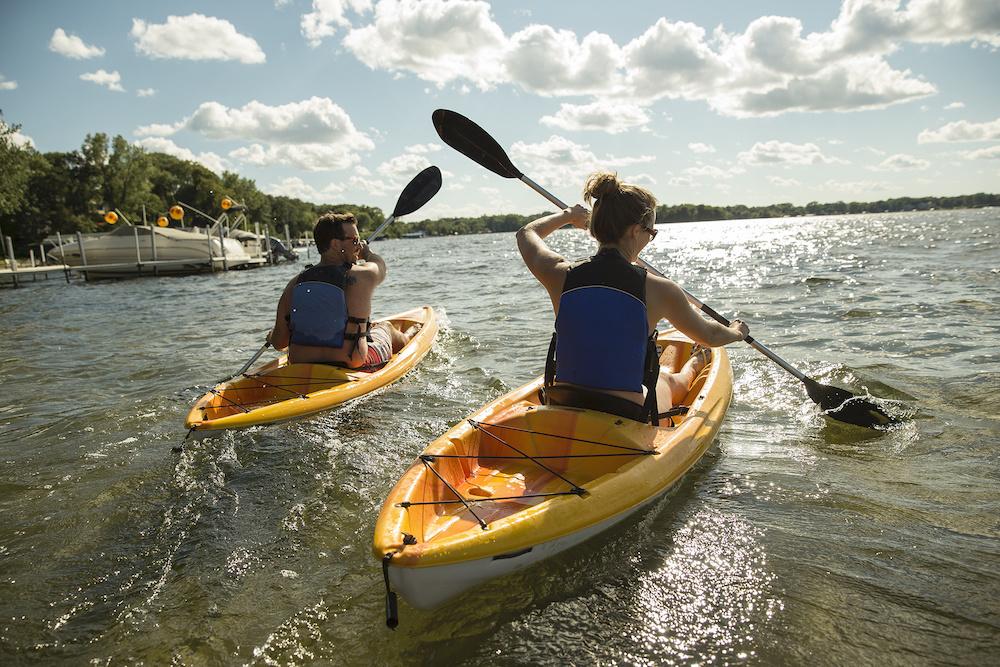 kayaking and boating