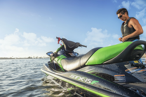 learning to ride a personal watercraft