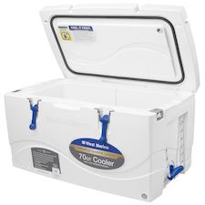west marine 70 quart premium marine cooler