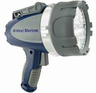 West Marine Waterproof 3000-Lumen Rechargeable LED Spotlight
